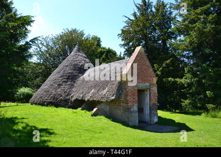 The Ice House in the gardens at Compton Verney House, Compton Verney, Kineton, Warwickshire, England, UK. 18th century Country Mansion and Art Gallery - Stock Image