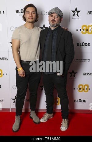'90 Minutes' Launch Event hosted by executive producer Rio Ferdinand and director Simon Baker to celebrate the digital download and DVD release on 1 April  Featuring: Robert Risticand, Simon Baker Where: London, United Kingdom When: 19 Mar 2019 Credit: PinPep/WENN.com - Stock Image