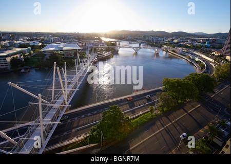 Kurilpa Bridge Brisbane Queensland Australia - Stock Image