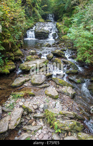 Watersmeet river gorge in North Devon UK - Stock Image