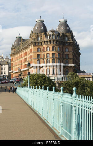 The Grand Hotel Scarborough, built on St Nicholas Cliff in1863. unsharpened - Stock Image
