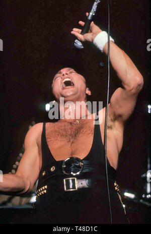 QUEENSRŸCHE American heavy metal group with Geoff Tate about 1988. Photo: Jeffrey Mayer - Stock Image