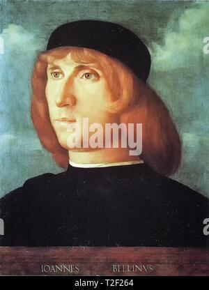 Giovanni Bellini (c.1430-1516), Self Portrait, painting, c. 1500 - Stock Image