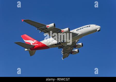 Airbus A380 of Qantas Australia - Stock Image