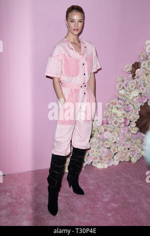 Los Angeles, USA. 30th Jan, 2019. Rosie Huntington-Whiteley attends the launch of Patrick Ta's Beauty Collection at Goya Studios on April 04, 2019 in Los Angeles, California. Credit: The Photo Access/Alamy Live News - Stock Image