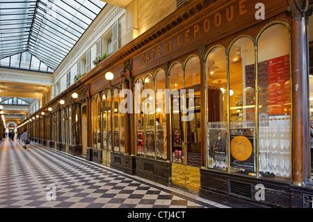 Cafe de l´Epoque in Passage Vero Dodat , Paris, France - Stock Image
