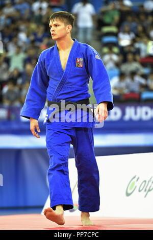 Baku, Azerbaijan. 22nd Sep, 2018. Czech judoka Jakub Jecminek is seen during the World Judo Championships at National Gymnastics Arena in Baku, Azerbaijan, on September 22, 2018. Credit: David Svab/CTK Photo/Alamy Live News - Stock Image