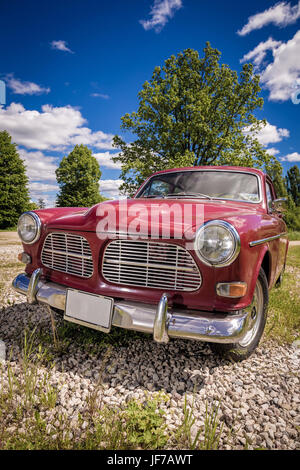 Shiny vintage Volvo from 1970's - Stock Image