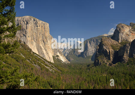 El Capitan and the Yosemite Valley, California, USA - Stock Image