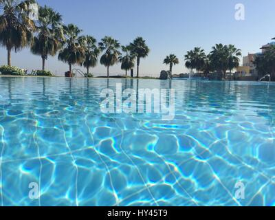 Swimming Pool In Sea - Stock Image