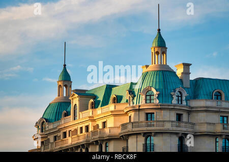 Traditional Baku architecture, Baku Azerbaijan - Stock Image