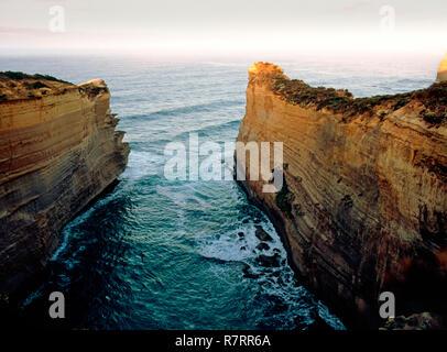 Limestone  Coastline, Great Ocean Road, Victoria, Australia - Stock Image