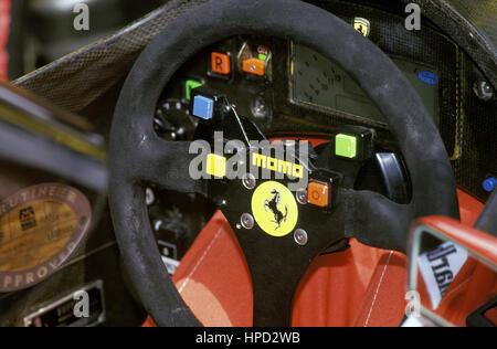 1993 Ferrari F93A Digital Dashboard Interlagos Brazilian GP - Stock Image