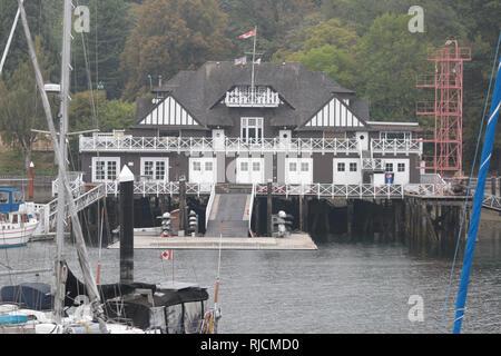 Kanada, British Columbia, Gebäude im Hafen von Vancouver, - Stock Image