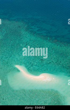 Undine Reef Great Barrier Reef Marine Park North Queensland Australia aerial - Stock Image