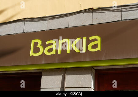 Bankia nationalized spanish bank banks banking branch branches high street - Stock Image