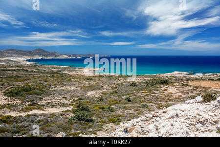 Costlne in Milos, Cyclades, Greece. Greece white and blue - Stock Image