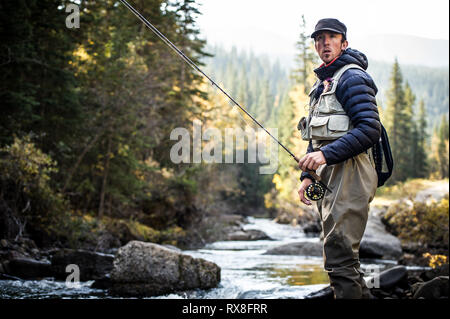 Fly Fishing - British Columbia, Canada - Stock Image