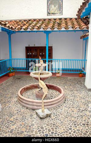 interior image from Pueblito Paisa in Nutibara Hill, Medellin, Colombia - Stock Image