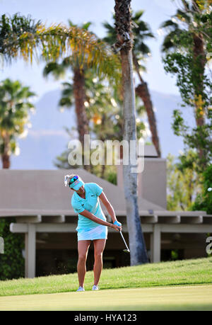 Rancho Mirage, California, USA. 2nd Apr, 2017. Lexi Thompson on the 16th during the final round of the ANA Inspiration - Stock Image
