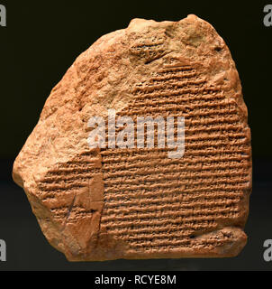 6406. Cuneiform inscription describing the surrender of Nabonidus' dynasty to the army of king Cyrus, c. 589 BC. - Stock Image