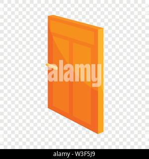 House door icon, cartoon style - Stock Image