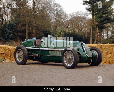 1935 Alfa Romeo 8C 35 3.8 litre Grand Prix single seat racing car driven by Dennis Poore Country of origin Italy - Stock Image