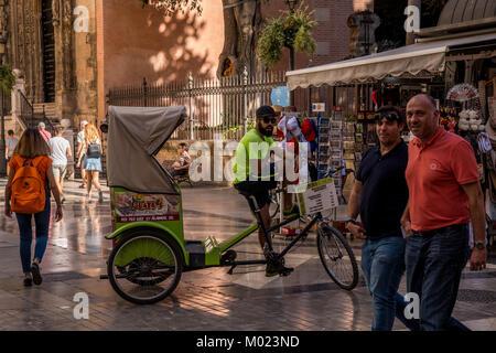 Bicycle tour in Malaga - Stock Image