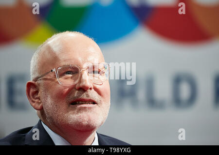 18.03.2019, Berlin, Berlin, Germany - Frans Timmermans, Vice-President of the European Union and EU Commissioner. 00R190318D226CAROEX.JPG [MODEL RELEA - Stock Image