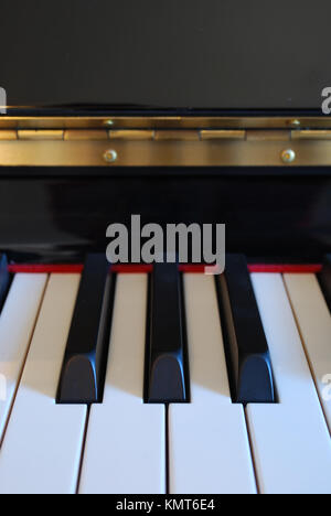 photo of a piano keys (front view) - Stock Image