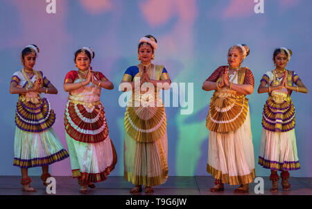Mohiniattam, South Indian Classical Dance - Stock Image