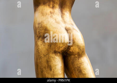 Female figure, sculpture, fragment. - Stock Image
