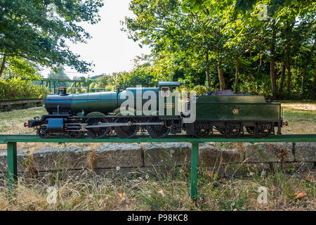 A scale model of 4-6-0 Manor Class of GWR steam locomotive 'Cookham Manor'. - Stock Image