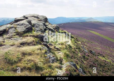 Win Hill in Derbyshire Peak District Dark Peak, England UK - Stock Image