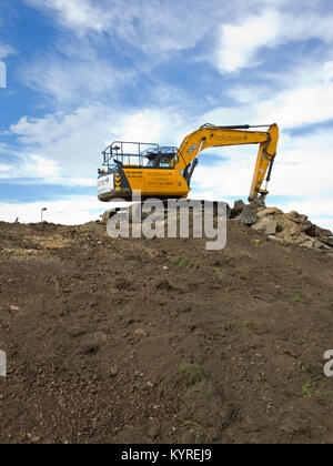 Earth Moving Plant Equipment JCB Contruction Ground Site work Heavy - Stock Image