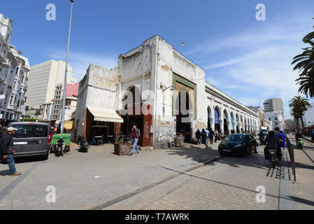 The Central market place on Boulevard Mohammed-V in Casablanca. - Stock Image
