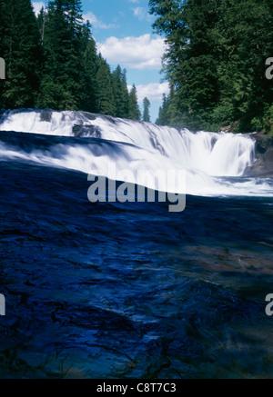 Middle Lewis River Falls, Washington State. - Stock Image