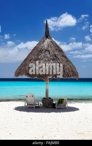 Cas Abao Beach on Curacao - Stock Image