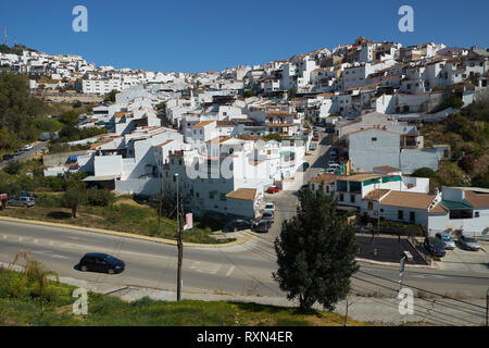 White Village of Álora, Málaga province, Andalusia, Spain. - Stock Image
