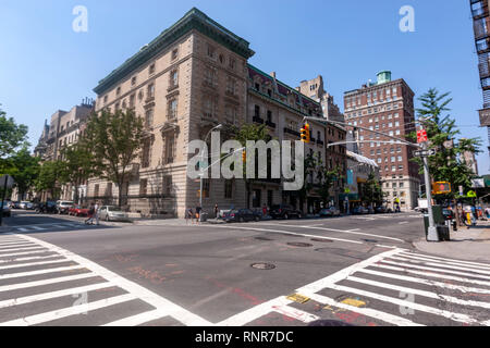 Crossing of Madison Avenue and E78 Street, New York City, USA - Stock Image