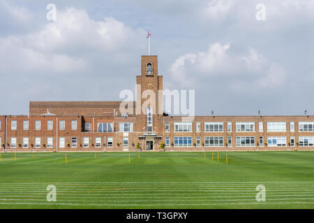 The main school building of King Edward VI School - an independent school in Southampton Shirley district dating back to the 16th century - Stock Image