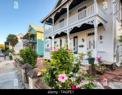 Historic old section of St Augustine Florida Americas oldest city - Stock Image