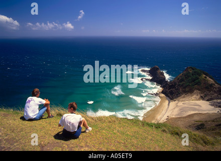 New Zealand Cape Reinga viewpoint on the north  island - Stock Image