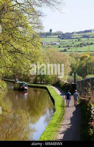 Rochdale Canal near Luddenden Foot, West Yorkshire - Stock Image