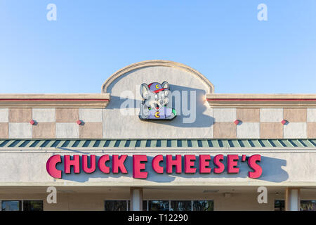 Chuck E. Cheese's, Cupertino, California, USA - Stock Image