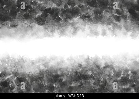 Japanese black ink watercolor abstract or grunge vintage hand paint background - Stock Image