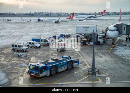 Airport in the Istankul, Turkey, Asia. - Stock Image