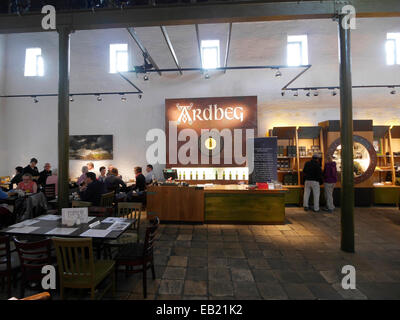 Ardbeg distillery cafe and shop Islay Scotland - Stock Image