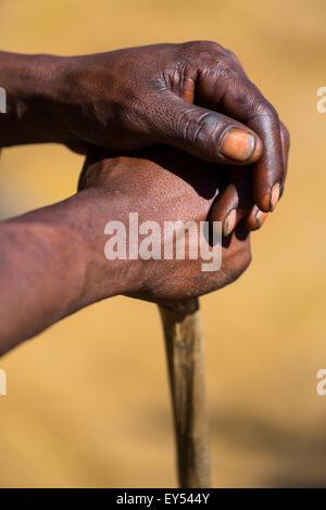 Hands Bushman - Kalahari Botswana - Stock Image