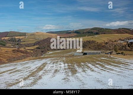 The Crown Estate farm lands at Glen Livet near Tomintoul - Stock Image